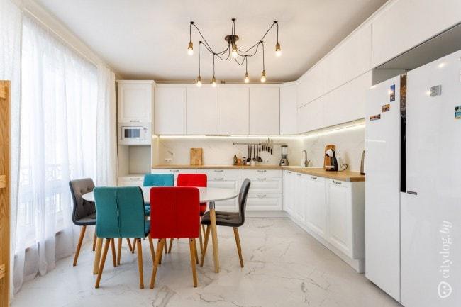 Белая кухня с фотографиями интерьера