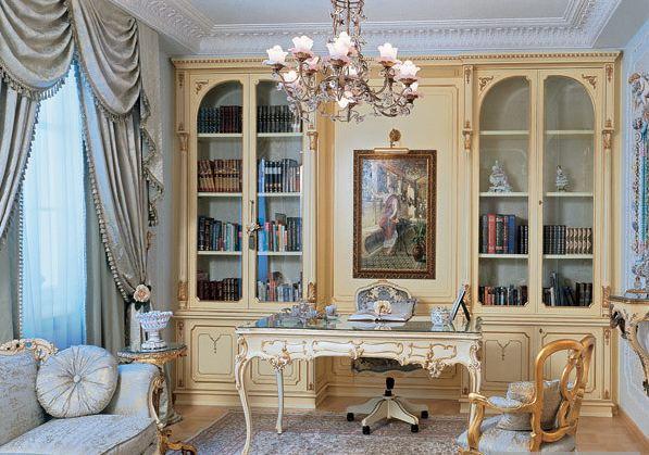 Интерьер квартиры в стиле рококо